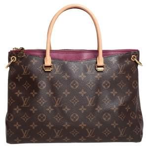 Louis Vuitton Aurore Monogram Canvas Pallas MM Bag