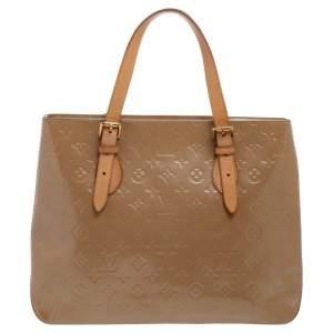 Louis Vuitton Noisette Monogram Vernis Brentwood Tote Bag