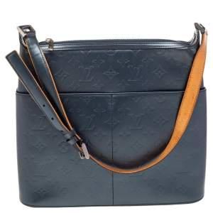 Louis Vuitton Metallic Dark Grey Monogram Mat Stockton Bag