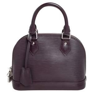 Louis Vuitton Bordeaux Epi Leather Alma BB Bag