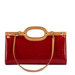 Louis Vuitton Red Vernis Leather Roxbury Drive Top Handle Bag