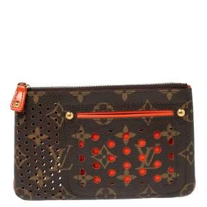 Louis Vuitton Monogram Perforated Canvas Limited Edition Pochette Plat Wallet