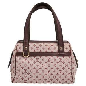 Louis Vuitton Pink Monogram Mini Lin Canvas and Leather Josephine PM Bag