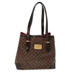 Louis Vuitton Damier Ebene Canvas and Leather Hampstead GM Bag