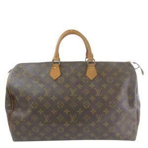 Louis Vuitton Brown Monogram Coated Canvas Speedy 40 Top Handle Bag