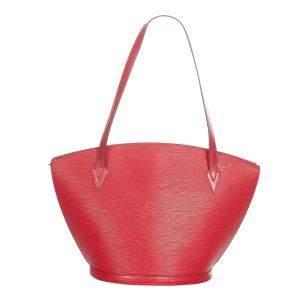 Louis Vuitton Red Epi Leather Saint Jacques PM Shoulder Bag