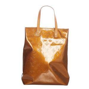 Louis Vuitton Brown Vernis Leather Reade MM Shoulder Bag
