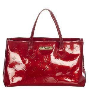 Louis Vuitton Red Monogram Vernis Wilshire PM Bag