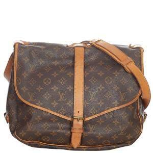 Louis Vuitton Monogram Canvas Saumur 35 Bag