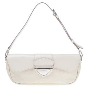 Louis Vuitton Ivory Epi Leather Montaigne Clutch Bag