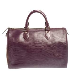 Louis Vuitton Cassis Epi Leather Speedy 30 Bag