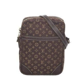 Louis Vuitton Brown Monogram Mini Lin Canvas Danube Bag