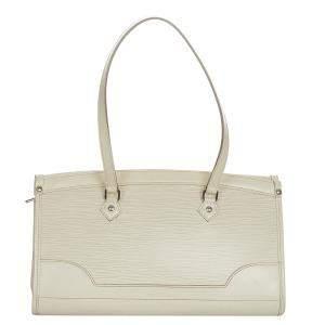 Louis Vuitton White Epi Leather Madeleine PM Bag