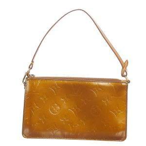 Louis Vuitton Brown Vernis Leather Lexington Clutch Bag