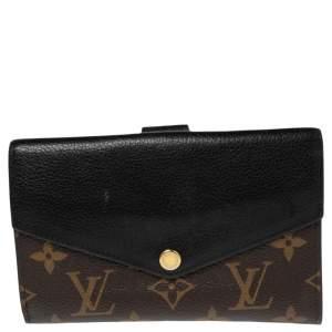 Louis Vuitton Black Monogram Canvas and Leather Pallas Compact Wallet