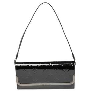 Louis Vuitton Black Monogram Vernis Rossmore MM Bag