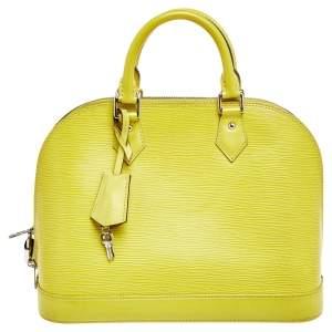 Louis Vuitton Pistache Epi Leather Alma PM Bag