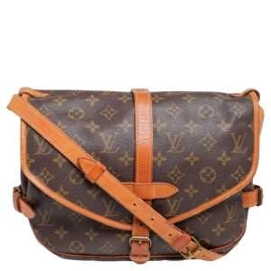 Louis Vuitton Monogram Canvas Saumur PM Bag