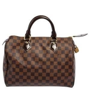 Louis Vuitton Damier Ebene Canvas Speedy 30 Bag