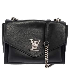 Louis Vuitton Black Leather Mylockme Chain Bag