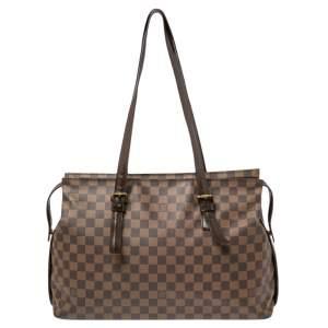Louis Vuitton Damier Ebene Canvas Chelsea Tote Bag