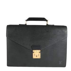 Louis Vuitton Black Epi Leather Serviette Conseiller Briefcase