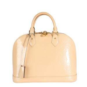 Louis Vuitton Beige Dune Vernis Monogram Leather Alma PM Satchel