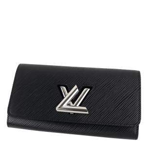 Louis Vuitton Black Epi Leather Twist Wallet