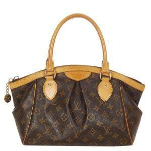 Louis Vuitton Brown Canvas Tivoli PM Satchel Bag
