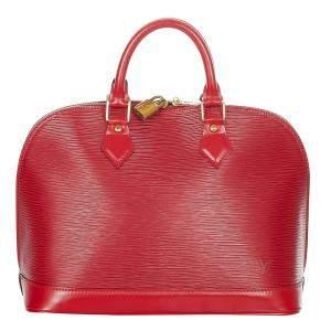 Louis Vuitton Red Epi Leather Alma PM Bag