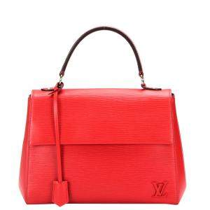 Louis Vuitton Red Epi Leather Cluny MM Bag