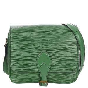 Louis Vuitton Green Epi Leather Cartouchiere MM Bag