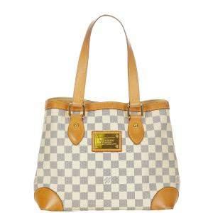 Louis Vuitton White Damier Canvas Hampstead PM Tote Bag