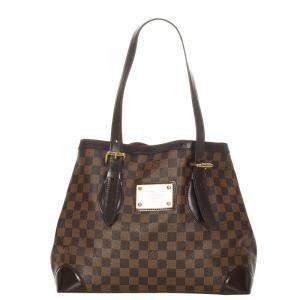 Louis Vuitton Brown Damier Canvas Ebene Hampstead MM Tote Bag