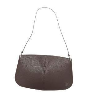 Louis Vuitton Brown Epi Leather Demi Lune Pochette Bag