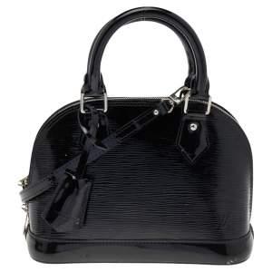 Louis Vuitton Black Epi Leather Alma Bag