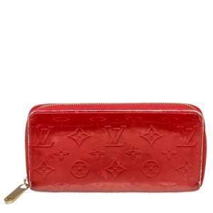 Louis Vuitton Red Monogram Vernis Zippy Wallet
