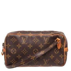 Louis Vuitton Brown Monogram Canvas Marly Crossbody Bag