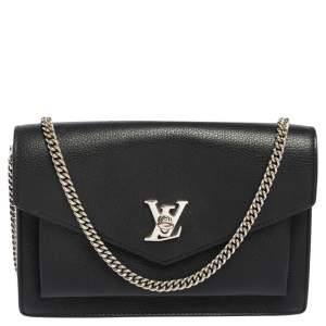 Louis Vuitton Black Leather Mylockme Pochette Bag