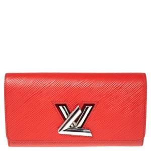 Louis Vuitton Coquelicot Epi Leather Twist Wallet
