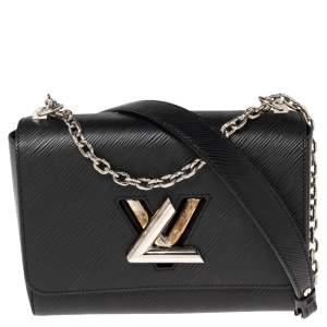 Louis Vuitton Black Epi Leather Twist MM Bag