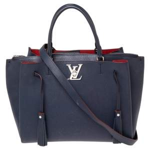 Louis Vuitton Marine Rouge Leather Lockmeto Bag