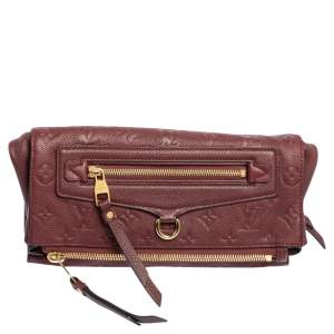 Louis Vuitton Aurore Monogram Empreinte Leather Petillante Clutch