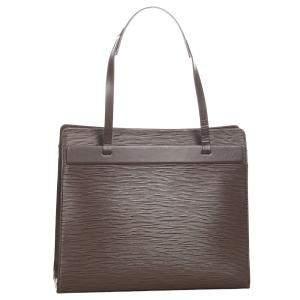 Louis Vuitton Brown Epi Leather Croisette PM bag