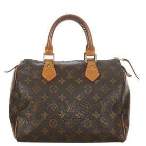 Louis Vuitton Brown Monogram Canvas Speedy 25 Top Handle Bag