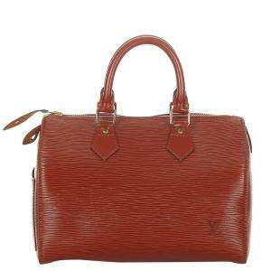 Louis Vuitton Red Epi Leather Speedy 25 Top Handle Bag