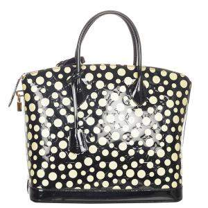 Louis Vuitton Black Vernis Leather Yayoi Kusama Lock It Tote Bag