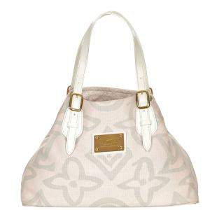 Louis Vuitton Pink Canvas Fabric Tahitenne Cabas PM Tote Bag