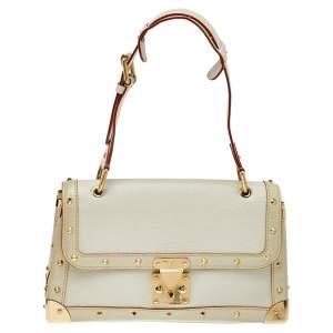 Louis Vuitton White Suhali Leather Le Talentueux Bag
