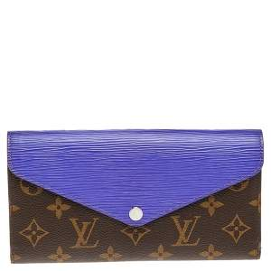 Louis Vuitton Purple Epi Leather and Monogram Canvas Marie-Lou Long Wallet